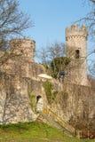 Ruínas medievais do castelo na cidade de Heppenheim Imagens de Stock Royalty Free