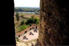 Ruínas medievais do castelo no dobrador, Transnistria, Moldova Fotos de Stock Royalty Free