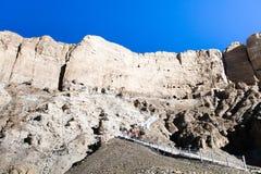 Ruínas murais da caverna em Donggacun Foto de Stock