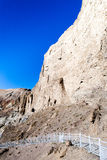Ruínas murais da caverna em Donggacun Fotos de Stock Royalty Free