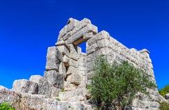 Ruínas na cidade antiga de Messina, Grécia Imagem de Stock Royalty Free