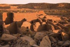 Ruínas na cultura de Chaco fotografia de stock
