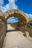 Ruínas na Olympia antiga, Elis, Grécia Fotografia de Stock Royalty Free