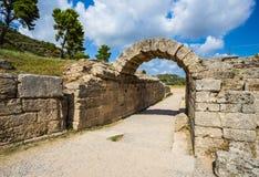 Ruínas na Olympia antiga, Elis, Grécia Imagens de Stock Royalty Free