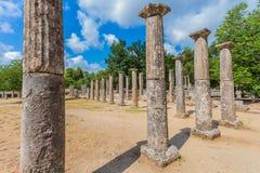 Ruínas na Olympia antiga, Peloponnesus, Grécia Fotografia de Stock Royalty Free