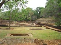 Ruínas na rocha de Sigiriya em Kandy. Fotografia de Stock