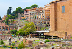 Ruínas no fórum em Roma Foto de Stock