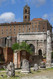 Ruínas no fórum romano Fotografia de Stock Royalty Free
