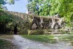 Ruínas no local arqueológico Tikal, Guatema foto de stock