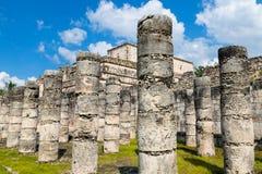 Ruínas redondas do templo de Sarmisegetuza Regia Fotografia de Stock Royalty Free