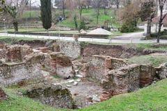 Ruínas romanas Imagens de Stock