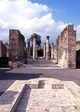 Ruínas romanas da casa de campo, Pompeii Fotos de Stock