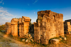 Ruínas romanas de Ampitheater em Salona Imagem de Stock