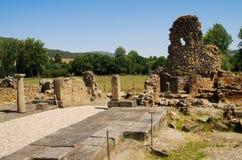Ruínas romanas do quadrado de cidade de Ammaia Imagem de Stock Royalty Free