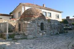 Ruínas romanas dos termos. Nessebar, Bulgária imagens de stock royalty free