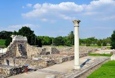 Ruínas romanas em Aquincum fotografia de stock