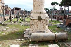 Ruínas romanas em Roma Imagem de Stock