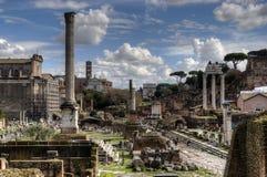 Ruínas romanas em Roma Fotos de Stock