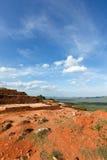 Ruínas sobre a rocha de Sigiriya Foto de Stock