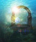 Ruínas subaquáticas Fotos de Stock Royalty Free