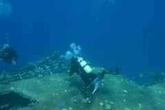 Ruínas submarinas Imagens de Stock Royalty Free