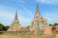 Ruínas velhas de Ayutthaya Imagens de Stock Royalty Free