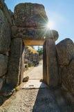 Ruínas velhas de Mycenae Imagens de Stock