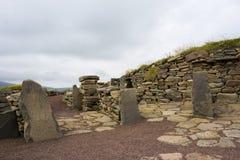 Ruínas velhas de Scatness, Shetland Imagem de Stock