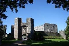 Ruínas velhas do castelo, baga Pomeroy, Totnes, Reino Unido fotografia de stock