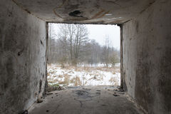 Ruínas velhas do forte da guerra na praia Fotos de Stock Royalty Free