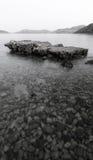 Ruïne op zee Stock Afbeelding