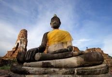 Ruïne van de acient tempel van Boedha in Thailand stock foto's