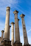 Ruïne van de Roman tempel in Cordoba, Spanje Royalty-vrije Stock Afbeeldingen