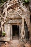 Ruïne van de tempels, Angkor Wat, Kambodja Royalty-vrije Stock Foto
