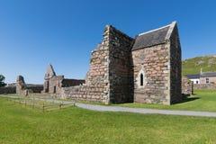 Ruïne van een Klooster op Iona, Schotland royalty-vrije stock foto