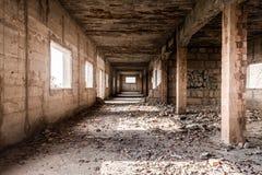 Ruïne van een oud industrieel Gebouw, Majorca Stock Fotografie