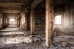 Ruïne van een oud industrieel Gebouw, Majorca Stock Afbeeldingen