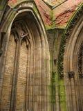 Ruïne van gotische kathedraal Stock Afbeelding
