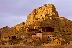 Ruïne van Kasteel Guge in Tibet Royalty-vrije Stock Afbeeldingen