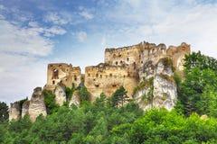 Ruïne van kasteel Lietava stock afbeelding
