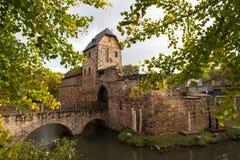 Ruïne van kasteel Slechte Vilbel Stock Afbeelding