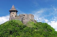 Ruïne van Kasteel Somoska, Slowakije stock fotografie