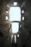 Ruïne van kathedraal op het kasteel en het klooster van Oybin royalty-vrije stock afbeeldingen