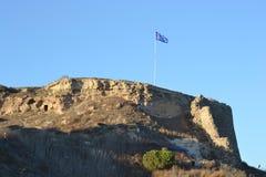 Ruïne van middeleeuwse vesting in Kefalos, Griekenland Royalty-vrije Stock Afbeelding