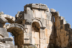 Ruïne van oude amphitheatre in Myra Stock Afbeeldingen