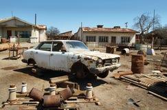 Ruïne van oude auto in Humberstone, Chili Royalty-vrije Stock Fotografie