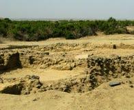 Ruïne van oude historische Archeologische uitgravingen in Adulis, Eritrea stock foto