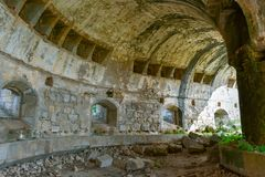 Ruïne van oude stallen van militair fort, Salamanca stock fotografie