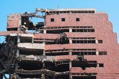 Ruïne van vernietigde oorlog - bouw Stock Foto's