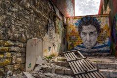 Ruïnegraffiti Royalty-vrije Stock Afbeelding